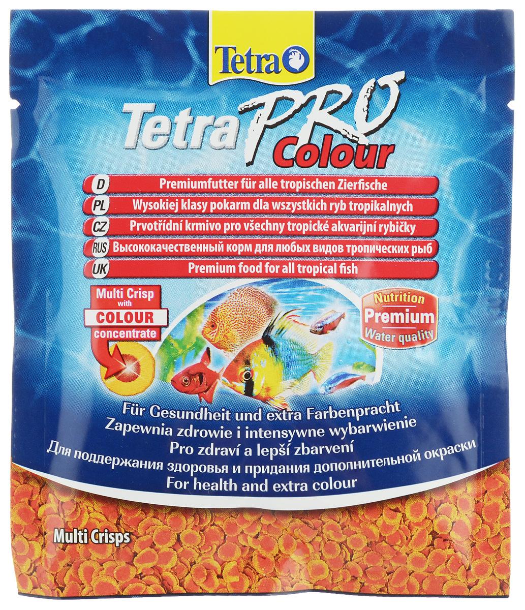 Корм Tetra TetraPro. Color для улучшения окраса всех видов декоративных рыб, чипсы, 12 г149366Корм Tetra TetraPro. Color - кормовые чипсы, предназначенные для улучшения яркости окраса декоративных рыбок. В составе имеется высокое содержание каротиноидов, которые усиливают яркий естественный окрас рыбок. При регулярном кормлении усиление цвета заметно уже через две недели.Кормить рыбок чипсами необходимо маленькими дозами и несколько раз в сутки.Состав: рыба и побочные рыбные продукты, зерновые культуры, экстракты растительного белка, дрожжи, моллюски и раки, масла и жиры, водоросли, сахар.Аналитические компоненты: сырой белок - 46%, сырые масла и жиры - 12%, сырая клетчатка - 3%, содержание влаги - 9%. Товар сертифицирован.