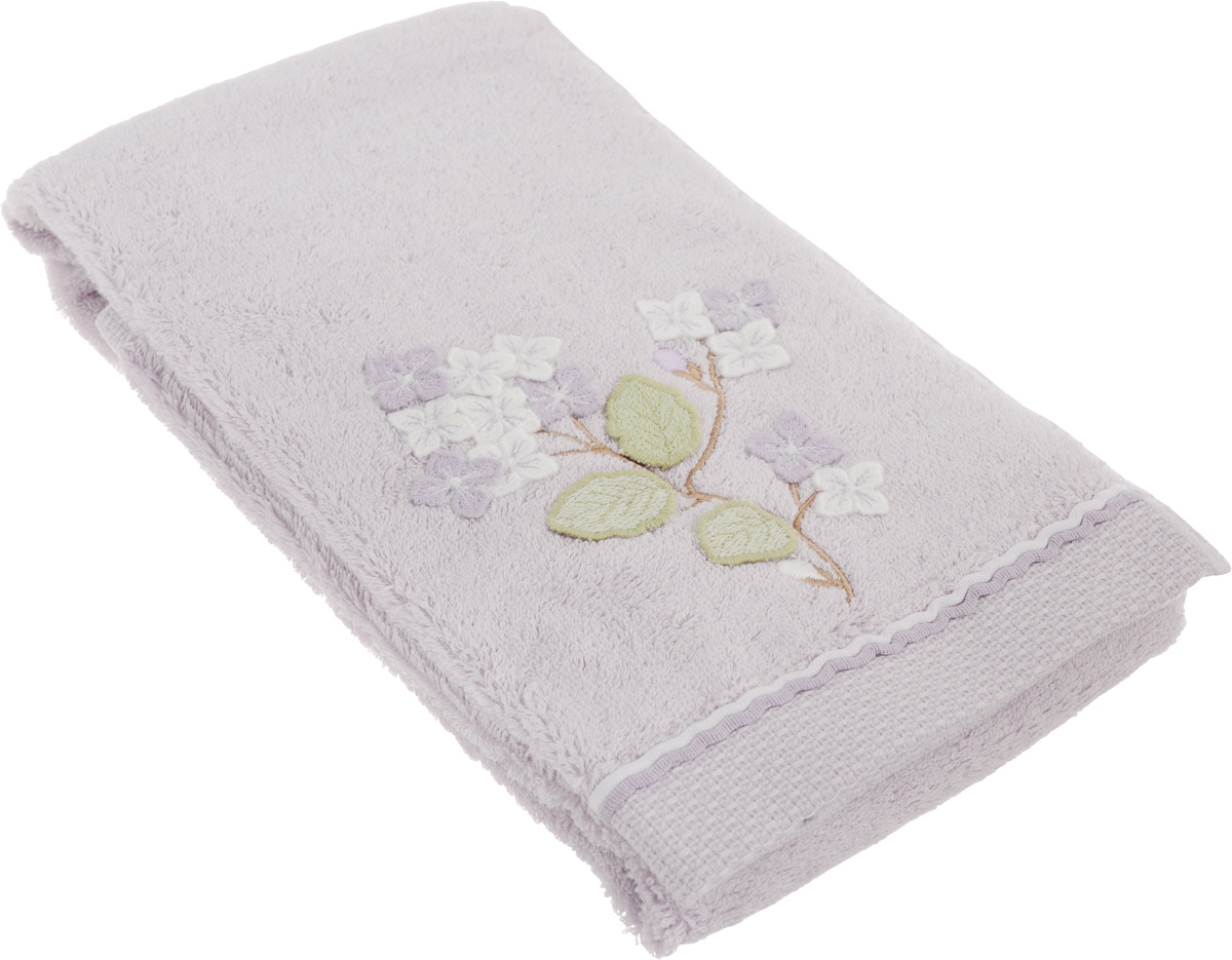 Полотенце махровое TAC Bloom, с вышивкой, цвет: сиреневый, 50 x 90 смCLP446Махровое полотенце TAC Bloom выполнено из натуральной махровой ткани (100% хлопок) и украшено вышивкой. Изделие отлично впитывает влагу, быстро сохнет, сохраняет яркость цвета и не теряет форму даже после многократных стирок. Полотенце очень практично и неприхотливо в уходе. Такое полотенце прекрасно дополнит интерьер ванной комнаты.Рекомендации по уходу:- режим стирки при 40°C,- допускается деликатная сухая химчистка,- отбеливание запрещено,- глажка при температуре подошвы утюга до 200°С,- рекомендуется щадящий барабанный отжим.Размер полотенца: 50 x 90 см.