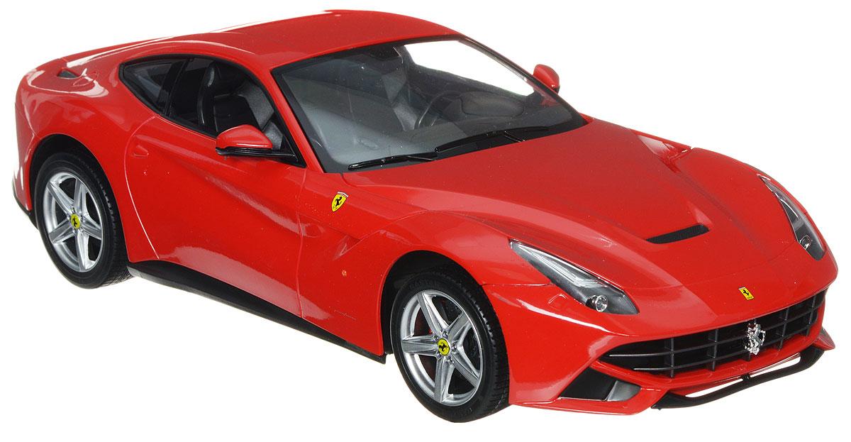 """Радиоуправляемая модель Rastar """"Ferrari F12 Berlinetta"""" предназначена для тех, кто любит роскошь и высокие скорости. Благодаря броской внешности, а также великолепной точности, с которой создатели этой модели масштабом 1:14 передали внешний вид настоящего автомобиля, модель станет подлинным украшением любой коллекции авто. Управление машиной происходит с помощью пульта. Машинка двигается вперед и назад, поворачивает направо, налево и останавливается. Пульт управления работает на частоте 27 MHz. Имеются световые эффекты. Радиоуправляемые игрушки способствуют развитию координации движений, моторики и ловкости. Ваш ребенок часами будет играть с моделью, придумывая различные истории и устраивая соревнования. Порадуйте его таким замечательным подарком! Для работы машины необходимо купить 5 батареек типа АА (не входят в комплект). Для работы пульта управления необходимо купить батарейку типа """"Крона"""" (не входит в комплект)."""