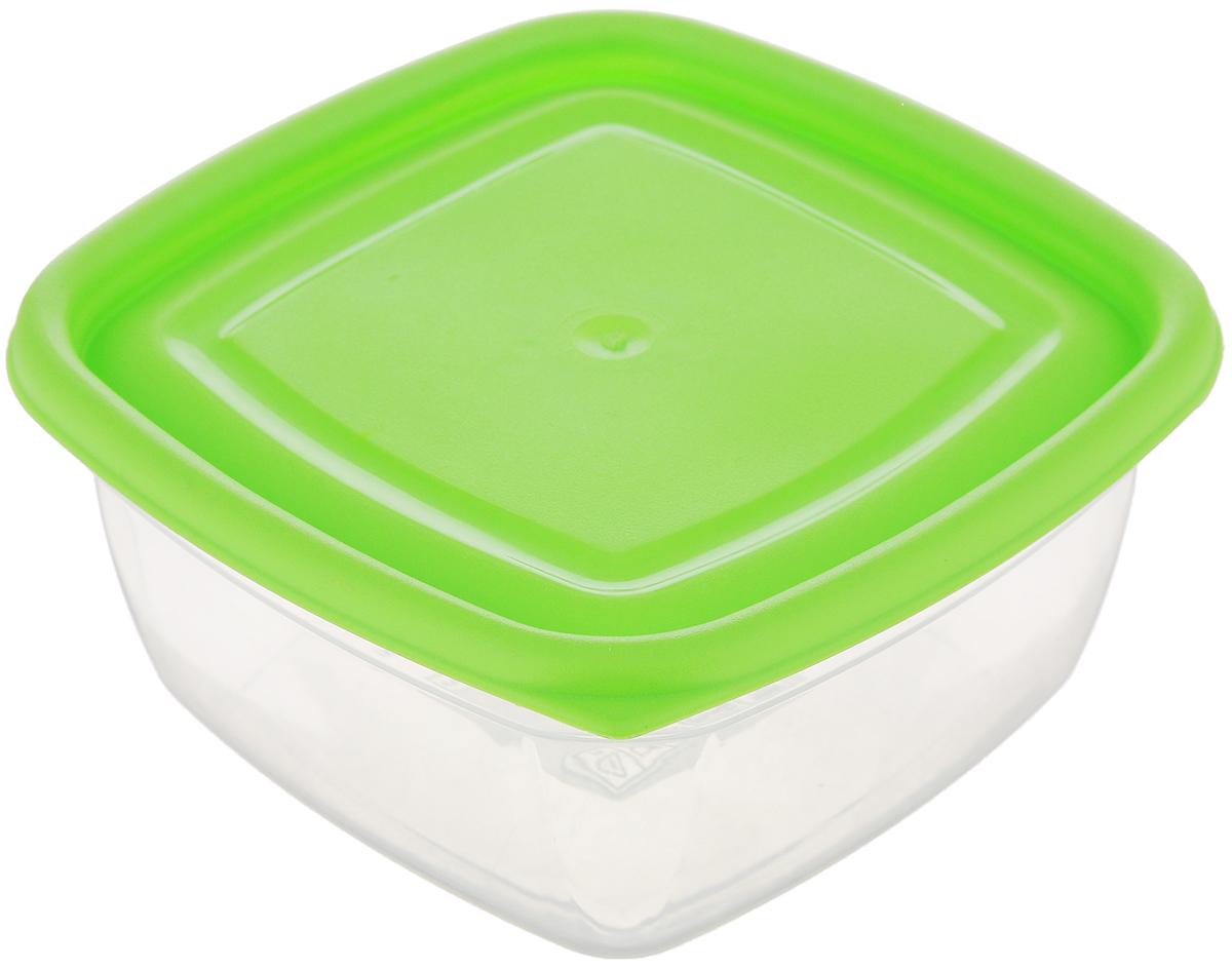 Контейнер Dunya Plastik, цвет: прозрачный, салатовый, 350 мл контейнер dunya plastik цвет синий прозрачный 2 20 л