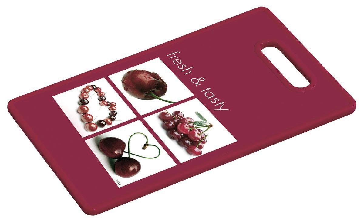 Доска разделочная Kesper Вишня, 37 х 22,5 смFS-91909Разделочная доска Kesper Вишня прекрасно подходит для разделки всех видов пищевых продуктов. Изготовлена из прочного пластика. Изделие оснащено отверстием для подвешивания на крючок.Не рекомендуется мыть в посудомоечной машине.Размер доски: 37 х 22,5 х 1,2 см.