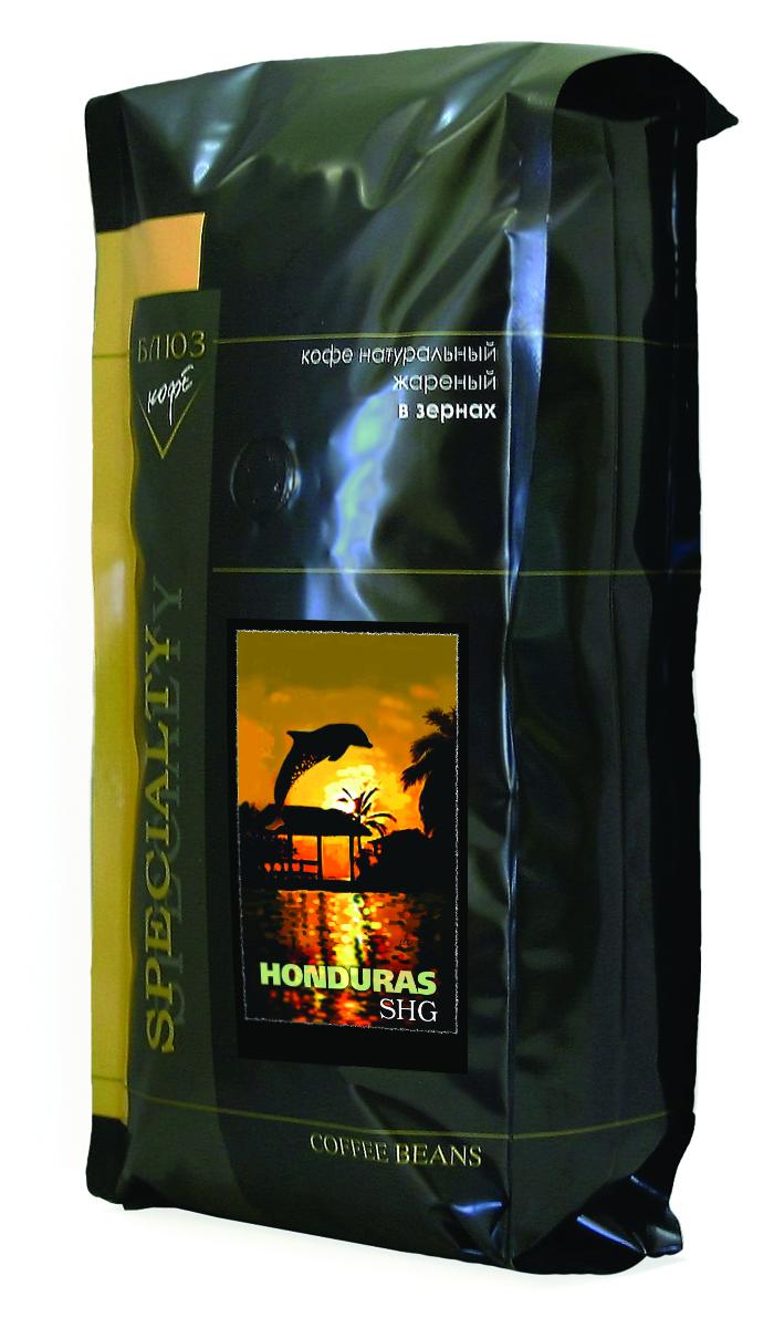 Блюз Гондурас SHG кофе в зернах, 1 кг8056370761050Блюз Гондурас SHG - центральноамериканский сорт кофе вида арабика. Близок к колумбийскому кофе, но имеет более горький вкус с легкой кислинкой. Кофе, обладающий неострым винным вкусом и хорошо выраженным ароматом. Название SHG - Strictly High Grown (англ. исключительно высокогорный) - означает, что кофе выращен на высоте не менее 1.1 км над уровнем моря.