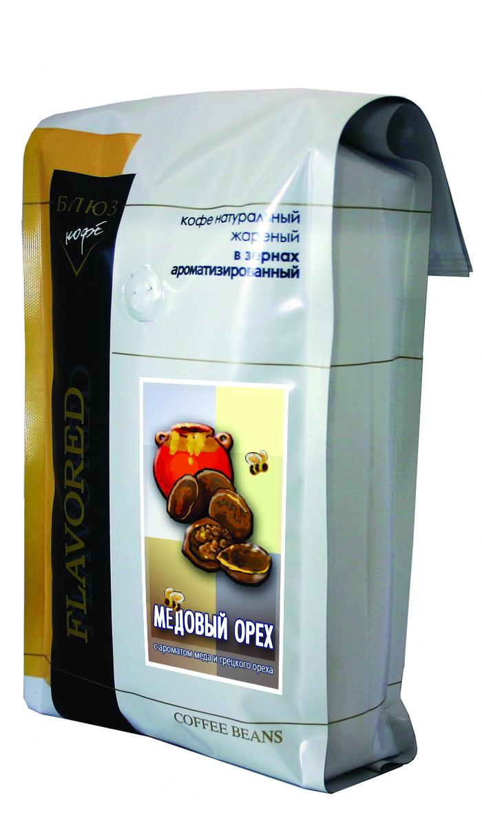 Блюз Ароматизированный Медовый орех кофе в зернах, 1 кг0120710Горьковатый вкус грецкого ореха, сладость свежего пчелиного меда, вкус крепкого черного кофе. Все это заставляет по-новому взглянуть вокруг. Энергия и азарт, вкус силы к новым свершениям. Все эти ощущения подарит вам кофе Блюз Медовый орех кофе. Ведь его рецепт древнее самой матушки природы.