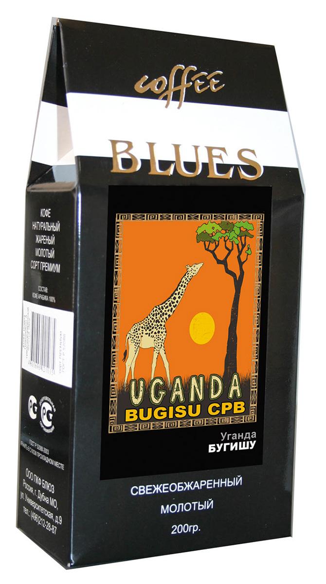 Блюз Бугишу Уганда кофе молотый, 200 г401.001.068Кофе Блюз Бугишу Уганда выращивают на горе Элгон, расположенной на северо-востоке Уганды в районе под названием Северный Бугишу, вдоль кенийской границы. Арабику, из которой производят кофе Bugisu, выращивают на небольших фермах, которые называются шэмбас. Кофе на них растет в тени бананов и среди маниоки.
