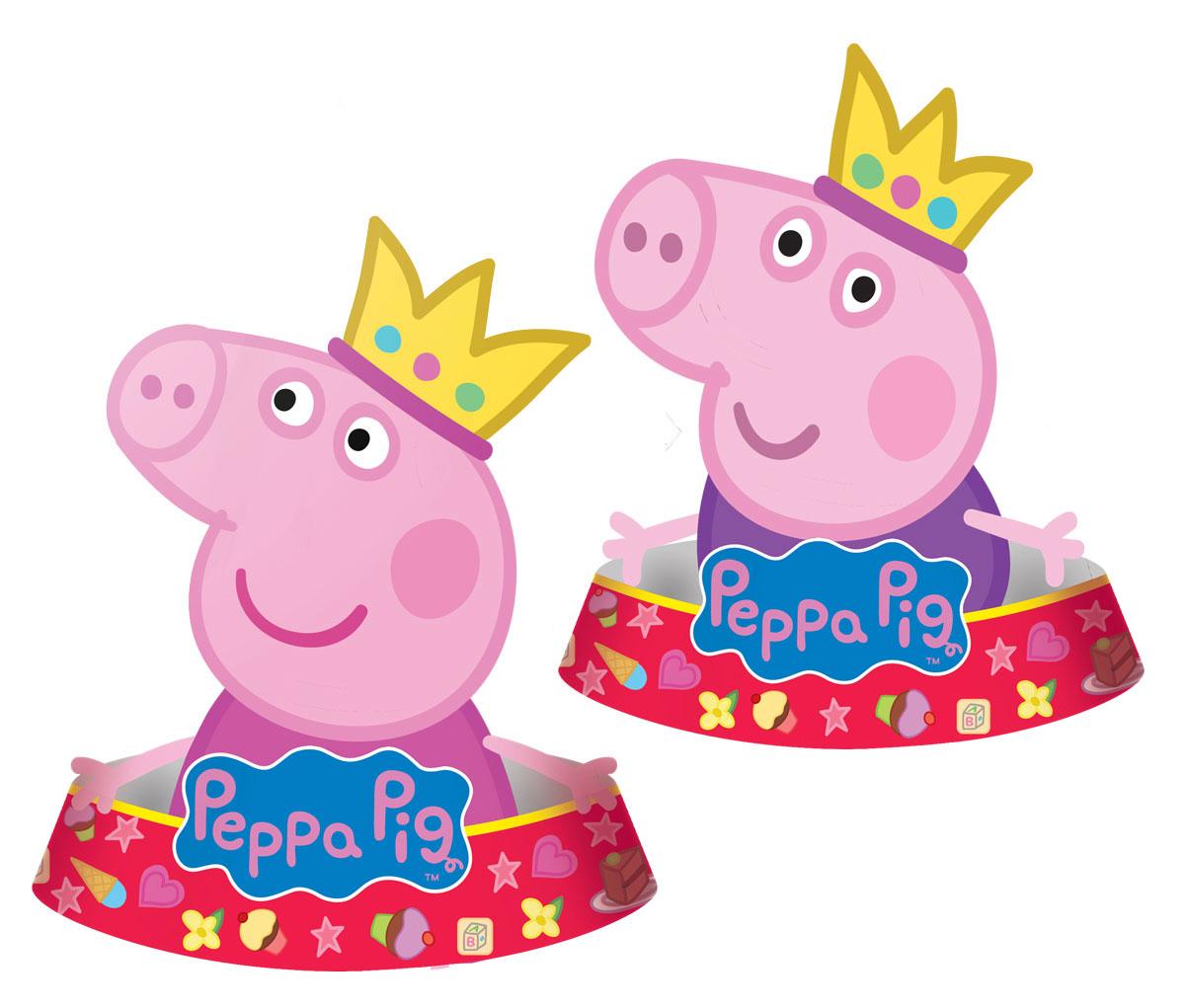 Peppa Pig Колпак фигурный Пеппа-принцесса 6 шт -  Колпаки и шляпы