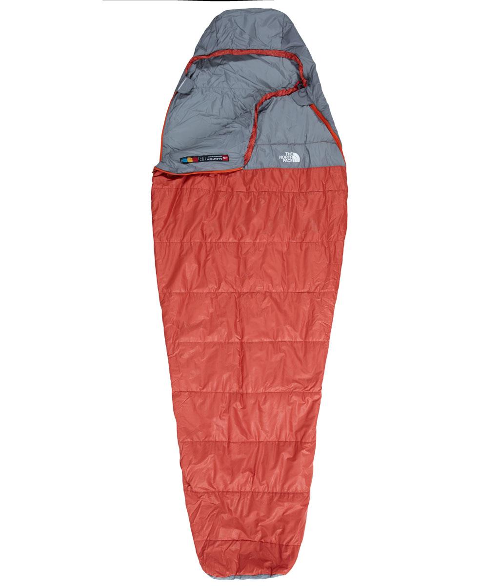 Спальный мешок The North Face Aleutian 50/10, цвет: красный. T0A3A8M1RRH REG360700032Спальный мешок The North Face Aleutian 50/10 вместительный, универсальный, теплый, комфортный и при этом практичный.Это спальный мешок для прохладной погоды, который можно целиком расстегнуть и расстелить в качестве пола в палатке. Для удобной транспортировки мешок упакован в чехол.