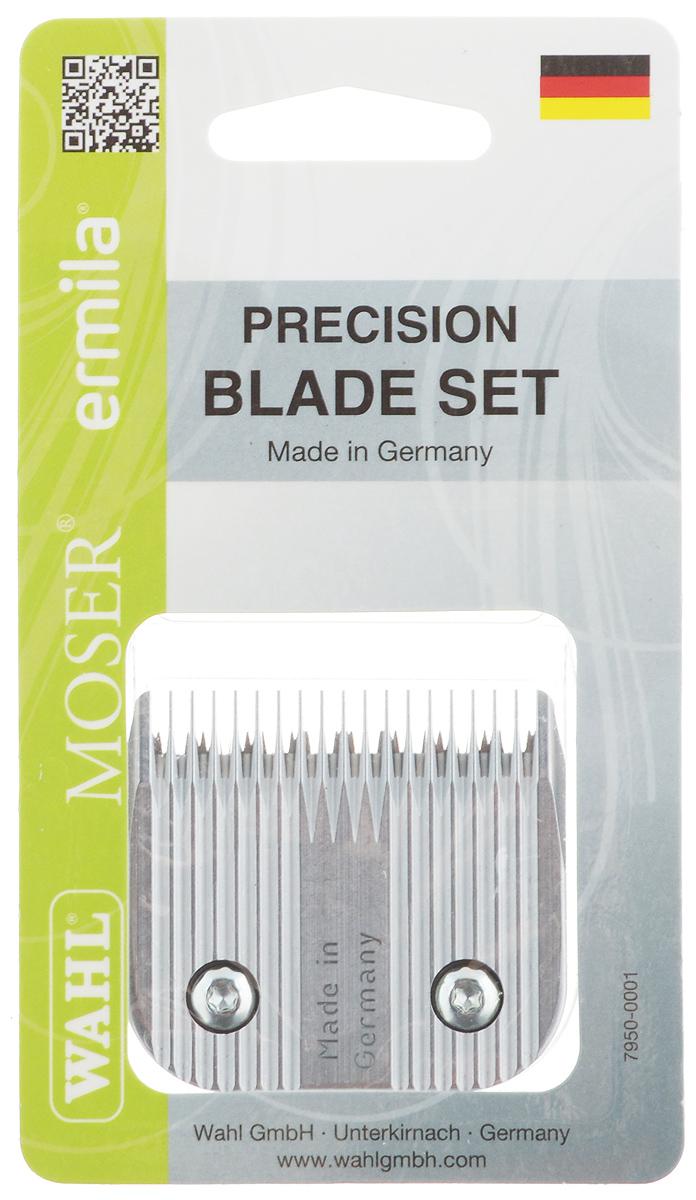 Ножевой блок Moser 9F, для машинки Moser Max 45, съемный, 2,5 мм0120710Ножевой блок Moser 9F - профессиональный быстросъемный прецизионно заточенный ножевой блок из высококачественной стали, изготовленный в Германии с использованием технологии высокоточной шлифовки. Блок с крупными зубцами. Совместим с моделями машинок 1245, 1247, 1250, 1260, 1261, 1262, 1290. Высота среза: 2,5 мм. Ширина ножевого блока: 49 мм. Шаг зубцов: 2,4 мм.