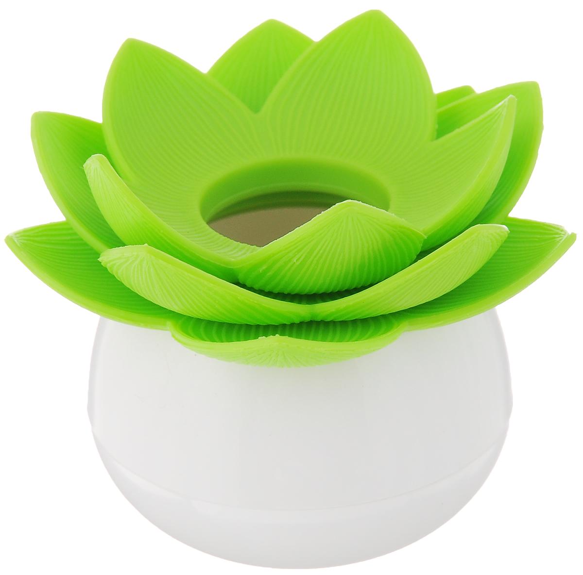 Держатель для зубочисток Qualy Lotus Pick, цвет: белый, зеленыйВетерок 2ГФОригинальный держатель для зубочисток Qualy Lotus Pick, изготовленный из высококачественного пластика в виде цветка лотоса, это невероятно нужный на кухне предмет. Корпус изделия приятен на ощупь, благодаря прорезиненному покрытию.Он справляется со своей работой просто отлично! Зубочистки всегда рассыпаются, их трудно вставить обратно, не уколоться и не сломать. С таким держателем все просто! Держатель Lotus - это не только элемент декора вашей кухни, но и верный помощник в хранении зубочисток. Диаметр корпуса: 4 см.Диаметр цветка: 7 см.Высота изделия: 6 см.Уважаемые клиенты! Обращаем ваше внимание, что зубочистки в комплект не входят!