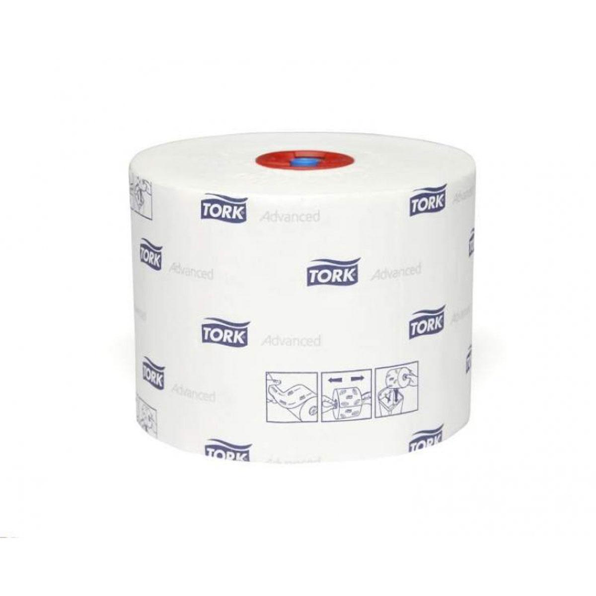 Tork туалетная бумага Mid-size в миди рулонах 2-сл. 100м, коробка 27 шт391602Целлюлоза
