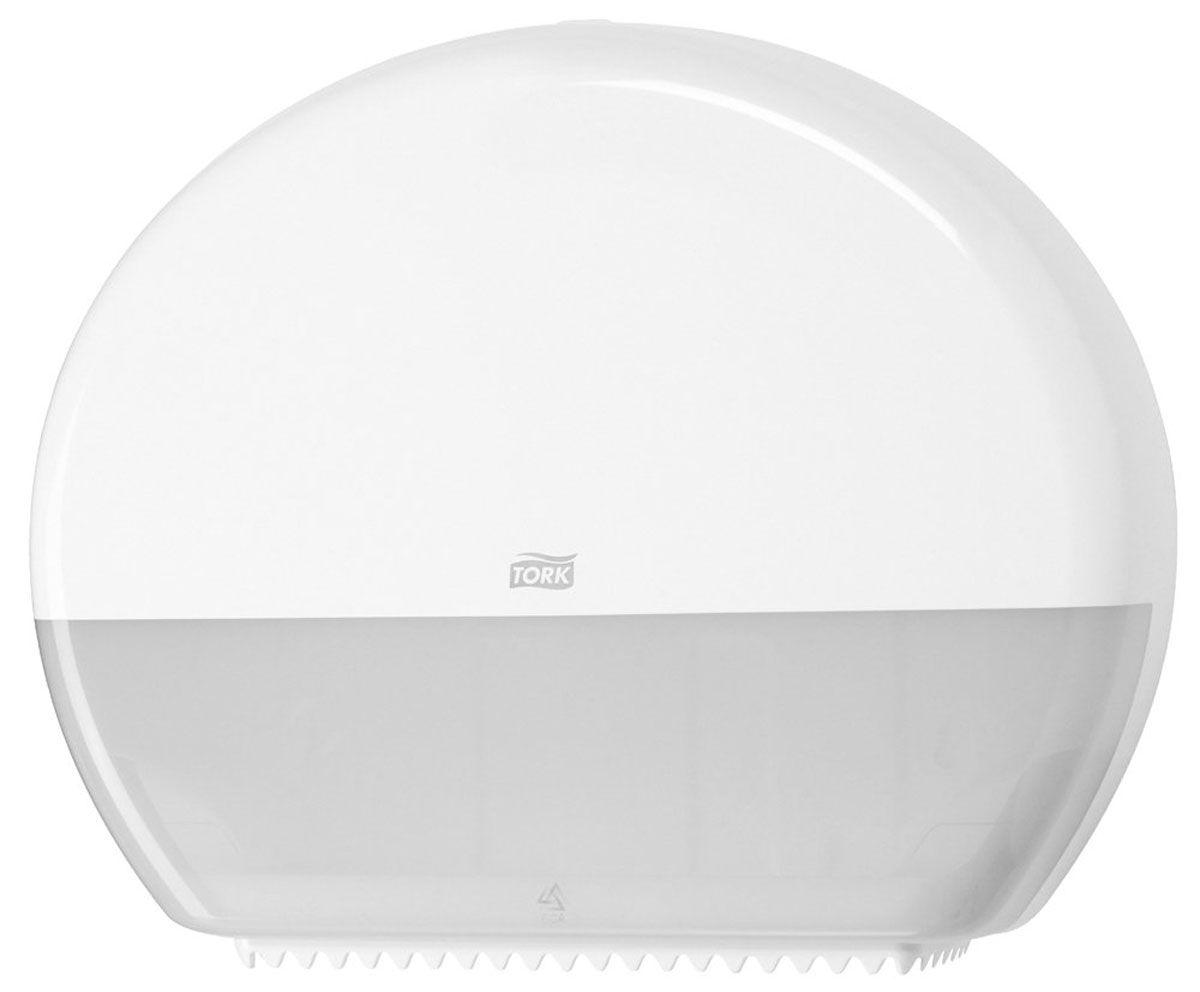 Диспенсер для туалетной бумаги Tork, цвет: белый. 5540004606400204268Система T1 - для туалетной бумаги в больших рулонахСерия Tork Elevation.Диспенсер для туалетной бумаги в больших (джамбо) рулонах подходит для мест с высокой проходимостью: аэропортов, торговых центров, учебных заведений и пр.Функция Stub roll позволяет сэкономить до 35 м.Большое смотровое окошко, контроль заполнения.Усиленный стопор рулона предотвращает перерасход.Усиленные зубцы для удобного отрыва.Большая емкость диспенсера, минимум обслуживания.