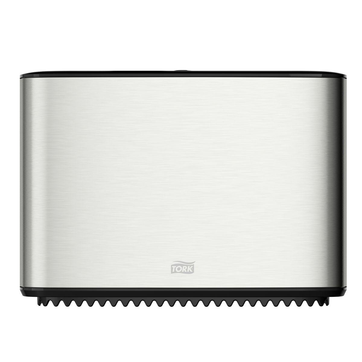 Диспенсер для туалетной бумаги Tork, цвет: металл. 460006CLP446Система T2 - для туалетной бумаги в мини рулонахСтопор рулона – препятствует бесконтрольному разматыванию рулона.Зубцы для отрыва бумаги, которыми невозможно порезаться.Функция частично использованного рулона Stub roll – красная отметка толщины рулона.Инструкция на крышке.Есть возможность закрепить визитную карточку.Высокая емкость.