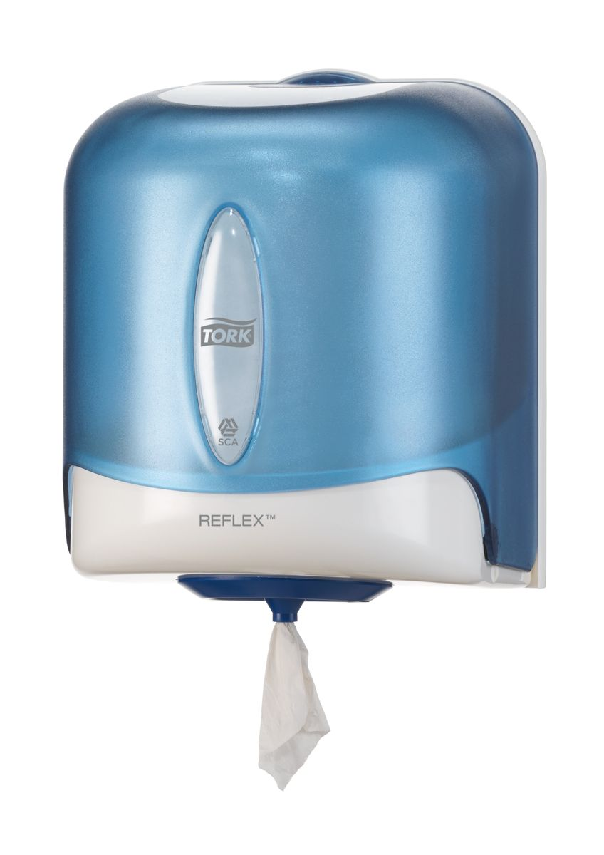 Диспенсер для бумажных полотенец Tork, цвет: голубой. 473133CLP446Настенный диспенсер с полистовым отбором для рулонов с центральной вытяжкой, контроль потребления и сокращение расходов.Средняя емкость.Полистовой отобор - контроль расхода.Сокращает потребление и количество отходов.Гигиеничность - защита бумаги от влаги и грязи.
