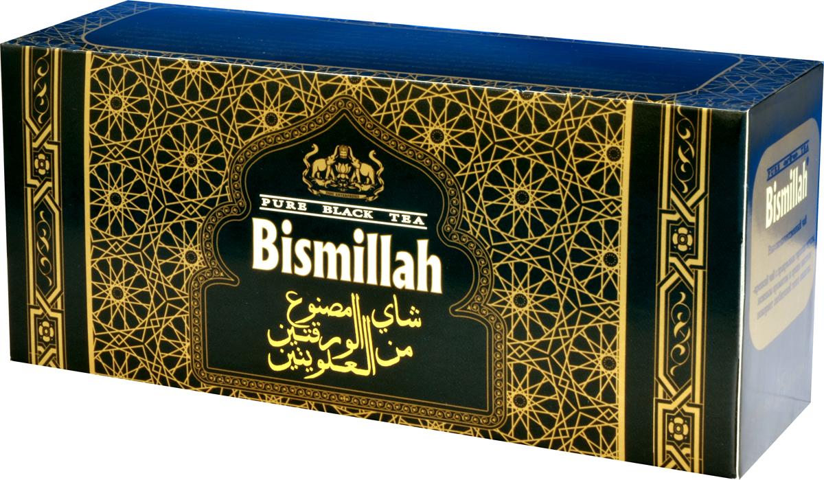 Bismillah Black черный чай в пакетиках, 25 шт101246Bismillah Black - высококачественный черный чай с прекрасным терпким вкусом, нежным ароматом и ярким настоем, который будет покорять вас снова и снова.