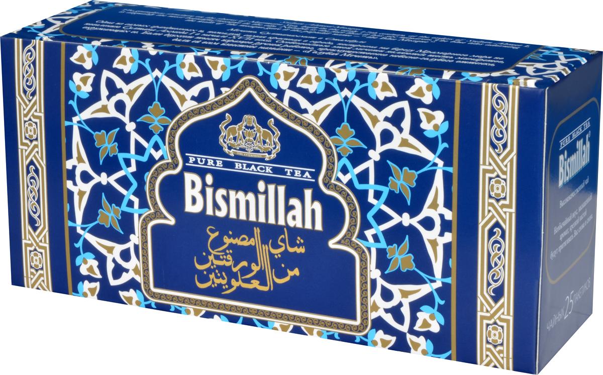 Bismillah Blue черный чай в пакетиках, 25 шт0120710Bismillah Blue - высококачественный черный чай с необычайным вкусом, насыщенным ароматом и крепким настоем, который будет притягивать вас снова и снова.