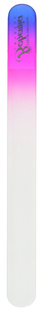 Bohemia Пилочка для ногтей, стеклянная, чехол из мягкого пластика, цвет: фиолетовый, розовыйcz233-1783в_фиолетовый,розовый