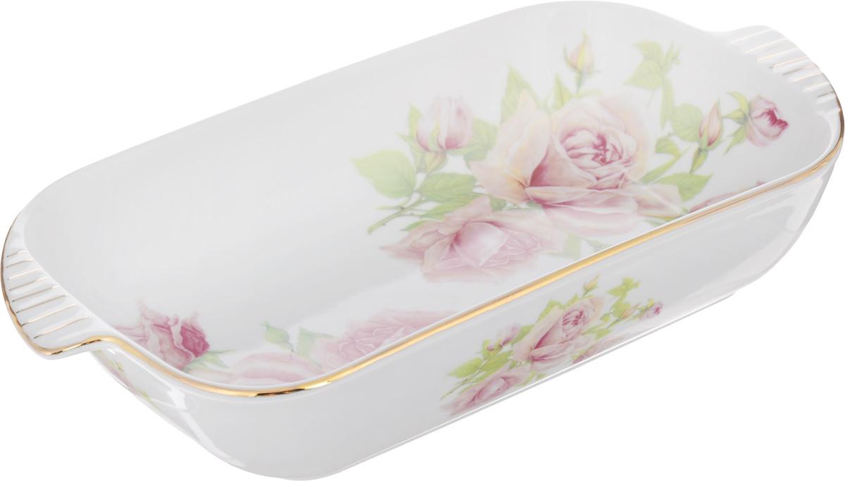 Шубница Elan Gallery Розовая фантазия, 900 мл115510Шубница Elan Gallery Розовая фантазия, выполненная из высококачественной керамики, идеальное блюдо для сервировки традиционного салата Сельдь под шубой или любого другого слоеного салата. Компактное, аккуратное блюдо с ручками для удобства станет незаменимым при любом застолье. Не рекомендуется применять абразивные моющие средства. Не использовать в микроволновой печи.Объем: 900 мл.Размер блюда (с учетом ручек): 29 х 16 см.