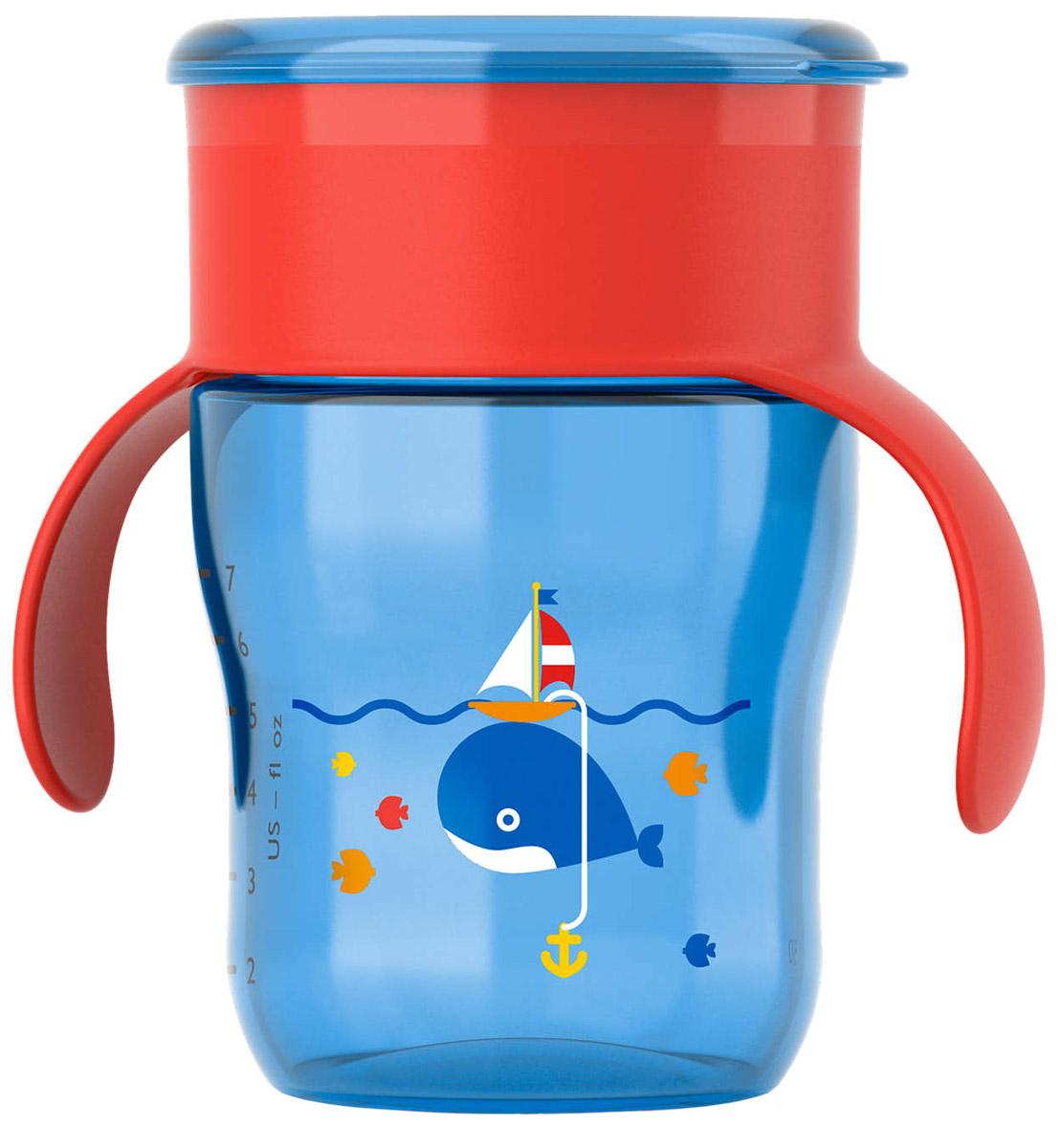 Philips Avent Чашка-поильник от 12 месяцев цвет голубой красный 260 мл кит SCF782/20 поильник чашка avent scf782 20 260 мл 12 синий с красной крышкой