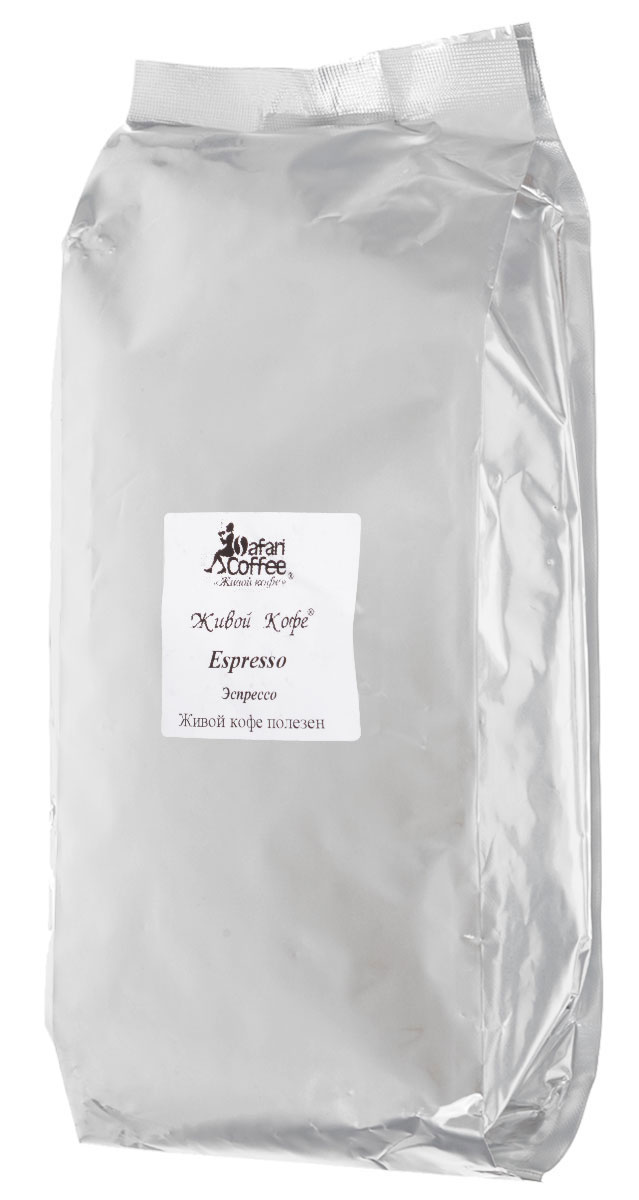 Живой Кофе Эспрессо кофе в зернах, 1 кг (промышленная упаковка)101246Живой Кофе Эспрессо - превосходный кофе в зернах. Именно многообразие вкусовых оттенков кофе придают этому напитку неповторимый аромат, а шоколадные и цитрусовые нотки подчеркивают превосходное послевкусие.