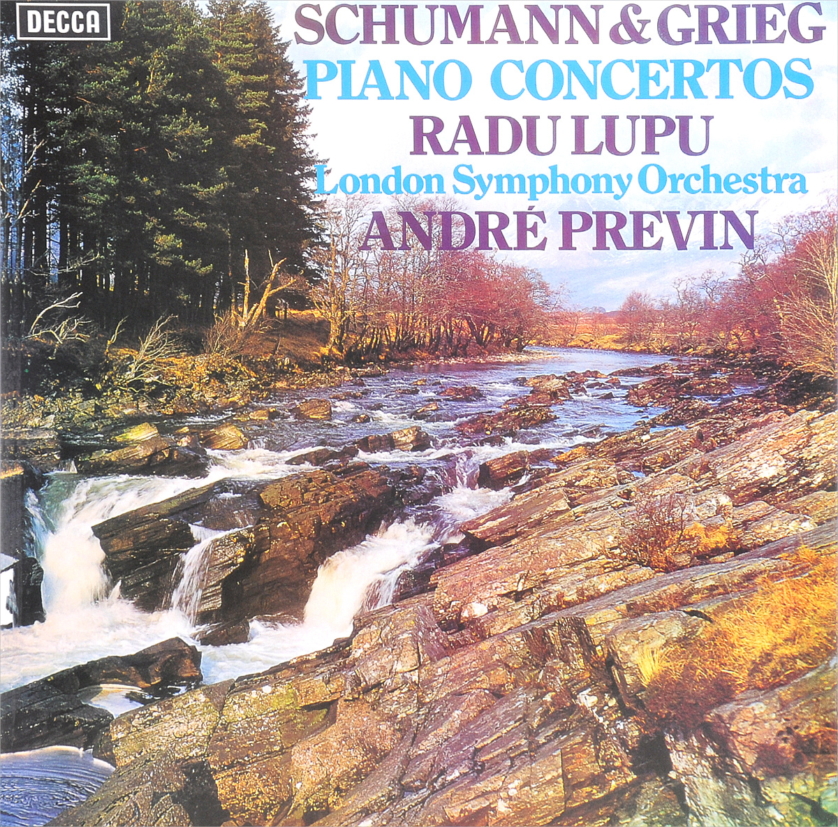 Андрэ Превен,The London Symphony Orchestra,Раду Лупу Andre Previn. Schumann / Grieg. Piano Concertos (LP)