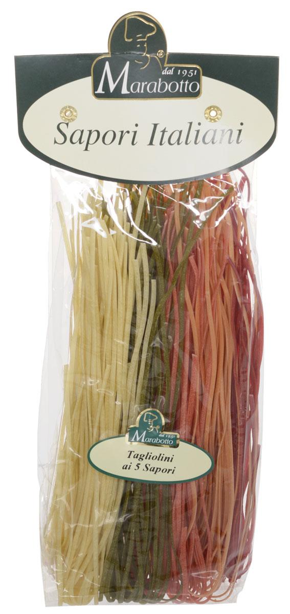 Marabotto Тальолини с приправами макароны, 250 г0120710В состав макарон Marabotto. Sapori Italiani включены популярные в Италии натуральные приправы. В этом заключена их уникальность. Характерные особенности приправ воплощены в удивительных цветах, форме, аромате и вкусе макарон. Уже в процессе варки вы можете почувствовать ароматы шпината, свеклы, моркови, томатов. По вкусу, аромату и внешнему виду эти макароны невозможно перепутать ни с одним другим продуктом!
