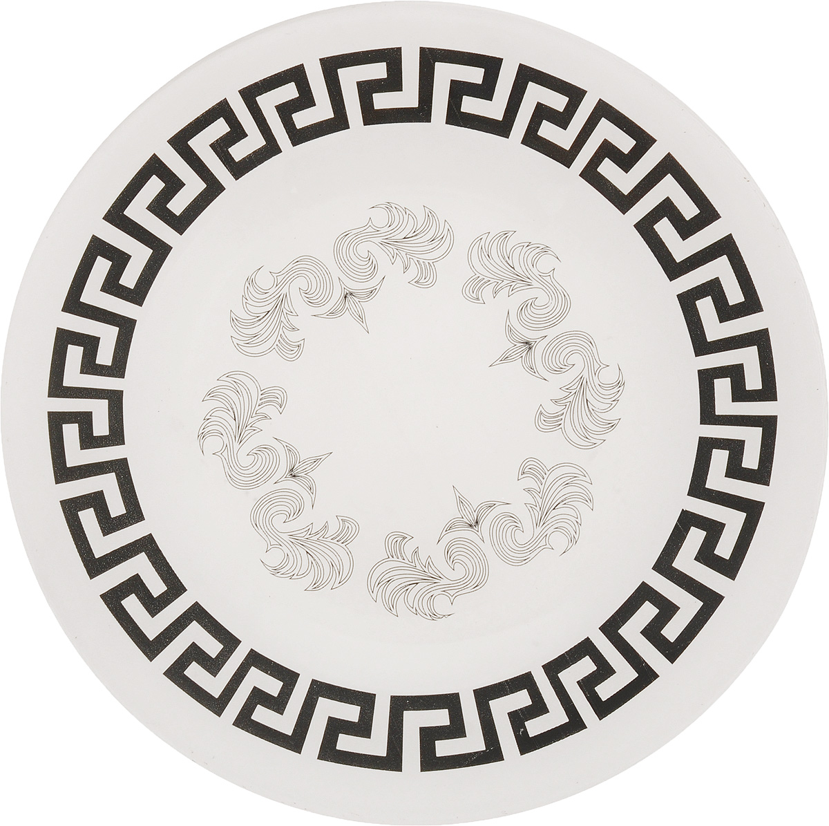 Тарелка обеденная Гусь-Хрустальный Греческий узор, диаметр 26 см115510Глубокая тарелка Гусь-Хрустальный Греческий узор изготовлена из высококачественного натрий-кальций-силикатного стекла. Изделие выполнено в белом цвете и оформлено красивым черным орнаментом. Она прекрасно впишется винтерьер вашей кухни и станет достойным дополнениемк кухонному инвентарю. Тарелка Гусь-Хрустальный Греческий узор подчеркнет прекрасный вкус хозяйкии станет отличным подарком. Диаметр тарелки: 26 см.Высота тарелки: 1,5 см.