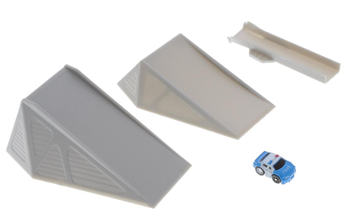 Big Motors Игровой набор Турбо-машинка с трамплинами Heat
