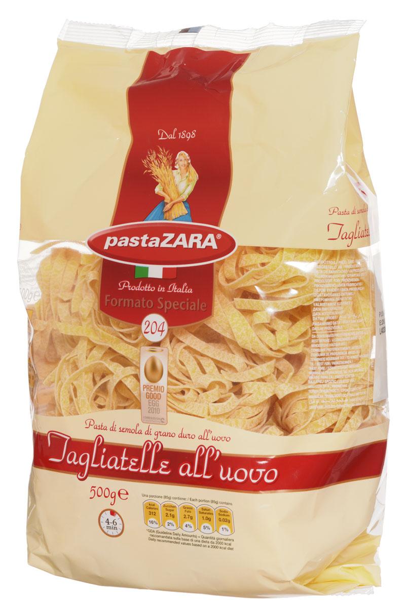 Pasta Zara Клубки яичные средние тальятелле макароны, 500 г8004350231048Макаронные изделия Pasta Zara - одна из самых популярных марок итальянских макаронных изделий в России. Продукция под торговой маркой Паста Зара сочетает в себе современность технологий производства и традиционное итальянское качество. Макаронные изделия Pasta Zara представлены более чем в 80 странах мира.Макароны Pasta Zara выпускаются в Италии с 1898 года семьёй Браганьоло уже в течение четырёх поколений. Компания Pasta Zara - это семейный бизнес, который вкладывает более, чем вековой опыт работы с макаронными изделиями в создание и продвижение своего продукта, тщательно отслеживая сохранение традиций.Макаронные изделия Pasta Zara Клубки изготовляются только из высококачественной муки твердых сортов пшеницы. По вкусу макароны максимально приближены к тем, что когда-то готовили дома, раскатывая скалкой.