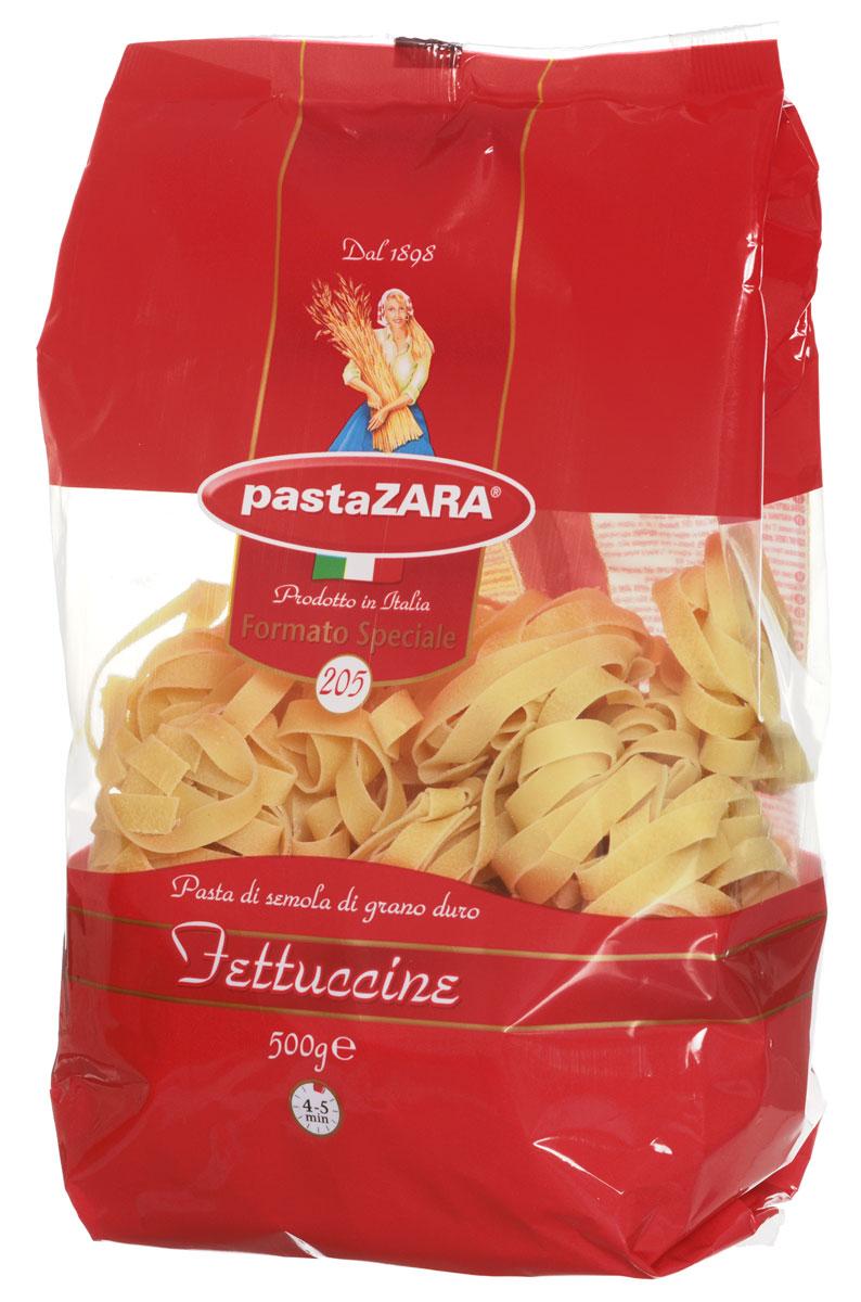 Pasta Zara Клубки широкие феттучине макароны, 500 г0120710Макаронные изделия Pasta Zara - одна из самых популярных марок итальянских макаронных изделий в России. Продукция под торговой маркой Паста Зара сочетает в себе современность технологий производства и традиционное итальянское качество. Макаронные изделия Pasta Zara представлены более чем в 80 странах мира.Макароны Pasta Zara выпускаются в Италии с 1898 года семьёй Браганьоло уже в течение четырёх поколений. Компания Pasta Zara - это семейный бизнес, который вкладывает более, чем вековой опыт работы с макаронными изделиями в создание и продвижение своего продукта, тщательно отслеживая сохранение традиций.Макаронные изделия Pasta Zara Клубки изготовляются только из высококачественной муки твердых сортов пшеницы. По вкусу макароны максимально приближены к тем, что когда-то готовили дома, раскатывая скалкой.