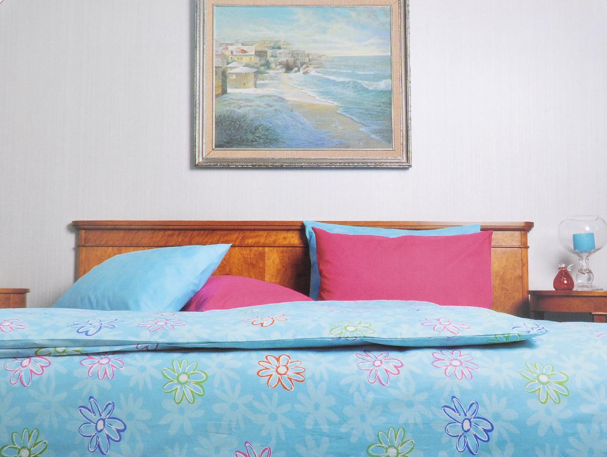 Комплект белья Brielle, 1,5-спальный, наволочка 50х70, цвет: лазурный (107)1108Роскошный комплект постельного белья Brielle выполнен из натурального ранфорса (100% хлопка) и украшен оригинальным рисунком. Комплект состоит из пододеяльника, простыни и наволочки. Ранфорс - это новая современная гипоаллергенная ткань из натуральных хлопковых волокон, которая прекрасно впитывает влагу, очень проста в уходе, а за счет высокой прочности способна выдерживать большое количество стирок. Высочайшее качество материала гарантирует безопасность.Доверьте заботу о качестве вашего сна высококачественному натуральному материалу.