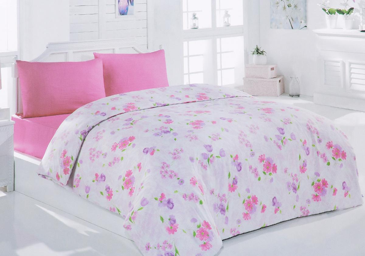 Комплект белья Brielle, 1,5-спальный, наволочка 50х70, цвет: светло-розовый (133)331145Роскошный комплект постельного белья Brielle выполнен из натурального ранфорса (100% хлопка) и украшен оригинальным рисунком. Комплект состоит из пододеяльника, простыни и наволочки. Ранфорс - это новая современная гипоаллергенная ткань из натуральных хлопковых волокон, которая прекрасно впитывает влагу, очень проста в уходе, а за счет высокой прочности способна выдерживать большое количество стирок. Высочайшее качество материала гарантирует безопасность.Доверьте заботу о качестве вашего сна высококачественному натуральному материалу.