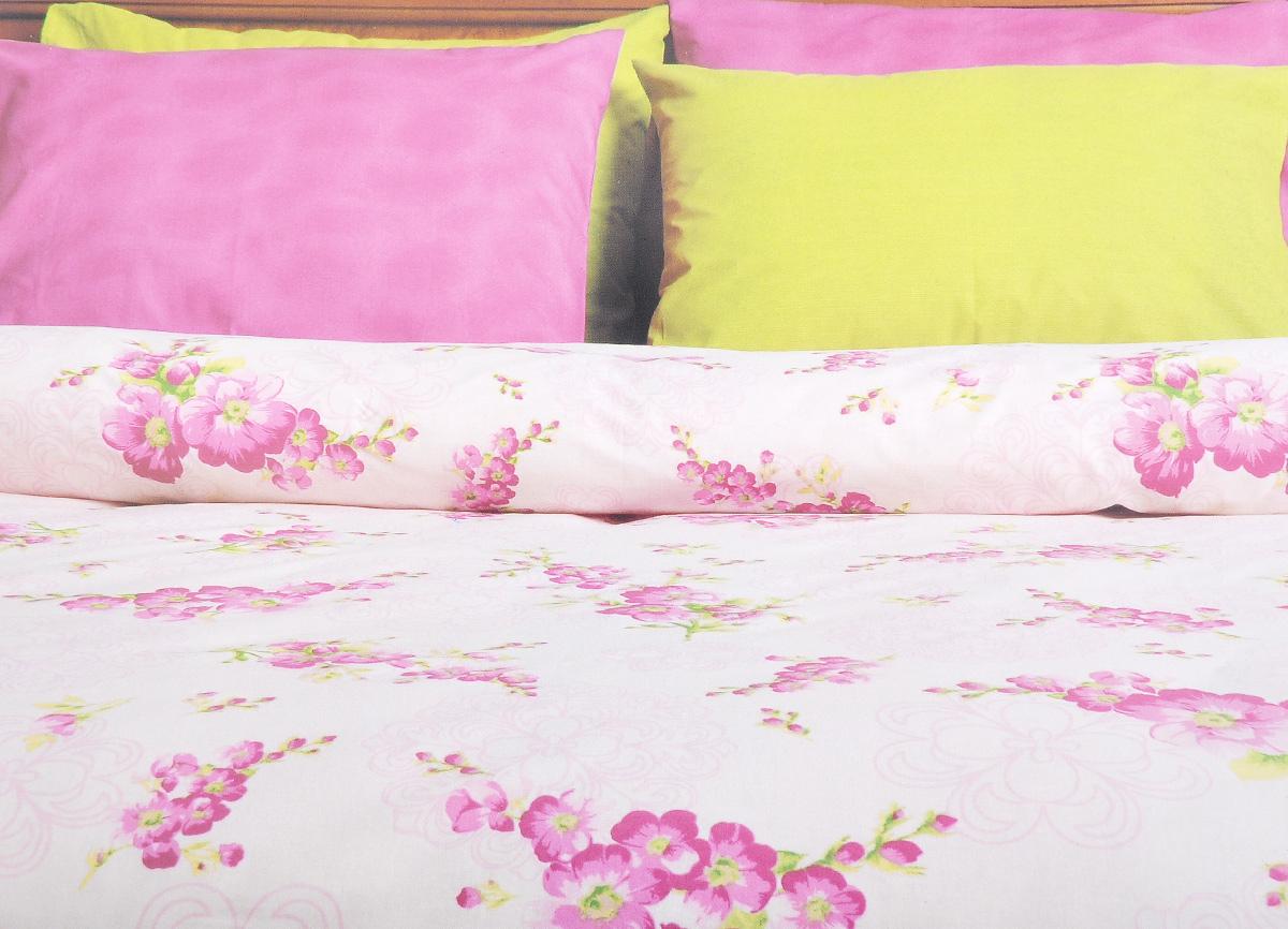 Комплект белья Brielle, 1,5-спальный, наволочка 50х70, цвет: белый, розовый (117)68/5/3Роскошный комплект постельного белья Brielle выполнен из натурального ранфорса (100% хлопка) и украшен оригинальным рисунком. Комплект состоит из пододеяльника, простыни и наволочки. Ранфорс - это новая современная гипоаллергенная ткань из натуральных хлопковых волокон, которая прекрасно впитывает влагу, очень проста в уходе, а за счет высокой прочности способна выдерживать большое количество стирок. Высочайшее качество материала гарантирует безопасность.Доверьте заботу о качестве вашего сна высококачественному натуральному материалу.