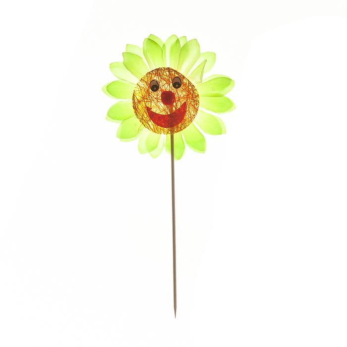 Украшение на ножке Village People Соломенные веселые цветы, цвет: зеленый, высота 11 см. 66945_166945-1Украшение на ножке Village People Соломенные веселые цветы предназначено для декорирования садового участка, грядок, клумб, домашних цветов в горшках, а также для поддержки и правильного роста растений. Изделие выполнено из хлопка, соломы, пенопласта и дерева.Высота: 11 см.