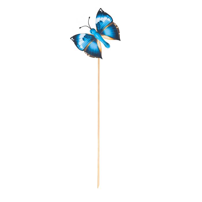Украшение на ножке Village People Летающие бабочки, цвет: синий, высота 31,5 см. 66964_766964-7Украшение на ножке Village People Летающие бабочки предназначено для декорирования садового участка, грядок, клумб, домашних цветов в горшках, а также для поддержки и правильного роста растений. Изделие выполнено из бамбука, пенопласта, металла и пластика.Высота: 31,5 см.