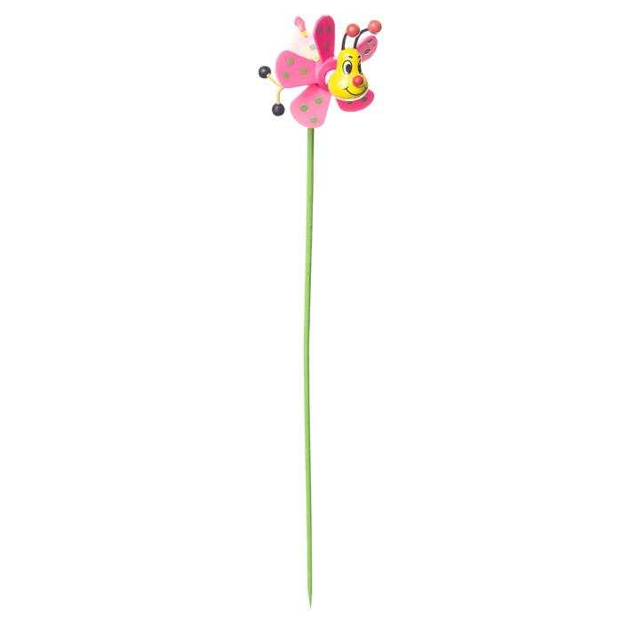 Декоративная фигура-вертушка Village People Полосатый жук, цвет: розовый, 7,5 х 5 х 5,8 (30) см. 68461_168461-1Ветряная фигурка-вертушка Village People Полосатый жук, изготовленная из бамбука и пластика, это не только игрушка, но и замечательный способ отпугнуть птиц с грядок. Изделие выполнено в виде жука и располагается на палочке. Яркий дизайн изделия оживит ландшафт сада или огорода.