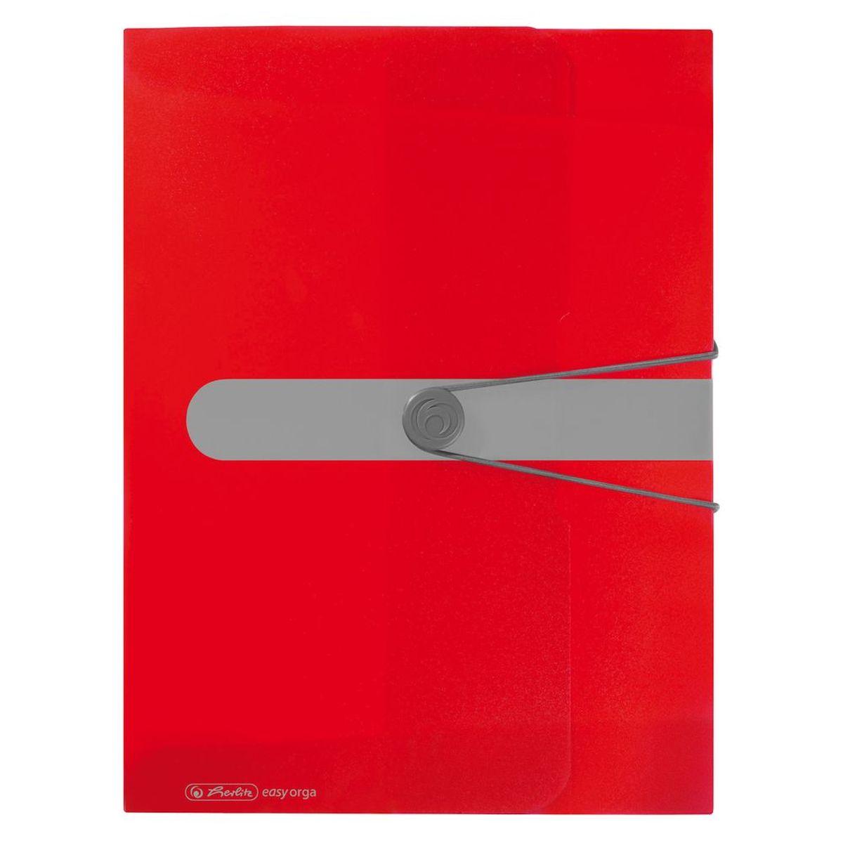 Herlitz Папка-конверт Easy orga to go цвет красныйFS-54115Папка-конверт Herlitz Easy orga to go станет вашим верным помощником дома и в офисе.Это удобный и функциональный инструмент, предназначенный для хранения и транспортировки больших объемов рабочих бумаг и документов формата А4. Папка изготовлена из износостойкого пластика и качественного полипропилена. Состоит из одного вместительного отделения. Закрывается папка при помощи резинки, а на корешке папки есть ярлычок.Папка - это незаменимый атрибут для любого студента, школьника или офисного работника. Такая папка надежно сохранит ваши бумаги и сбережет их от повреждений, пыли и влаги.