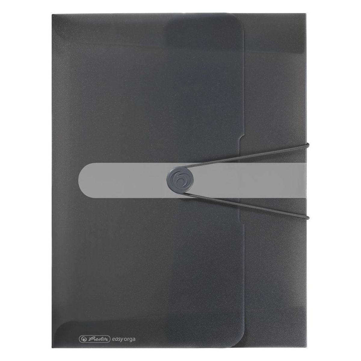 Herlitz Папка-конверт Easy orga to go цвет серый828637Папка-конверт Herlitz Easy orga to go станет вашим верным помощником дома и в офисе.Это удобный и функциональный инструмент, предназначенный для хранения и транспортировки больших объемов рабочих бумаг и документов формата А4. Папка изготовлена из износостойкого пластика и качественного полипропилена. Состоит из одного вместительного отделения. Закрывается папка при помощи резинки, а на корешке папки есть ярлычок.Папка - это незаменимый атрибут для любого студента, школьника или офисного работника. Такая папка надежно сохранит ваши бумаги и сбережет их от повреждений, пыли и влаги.