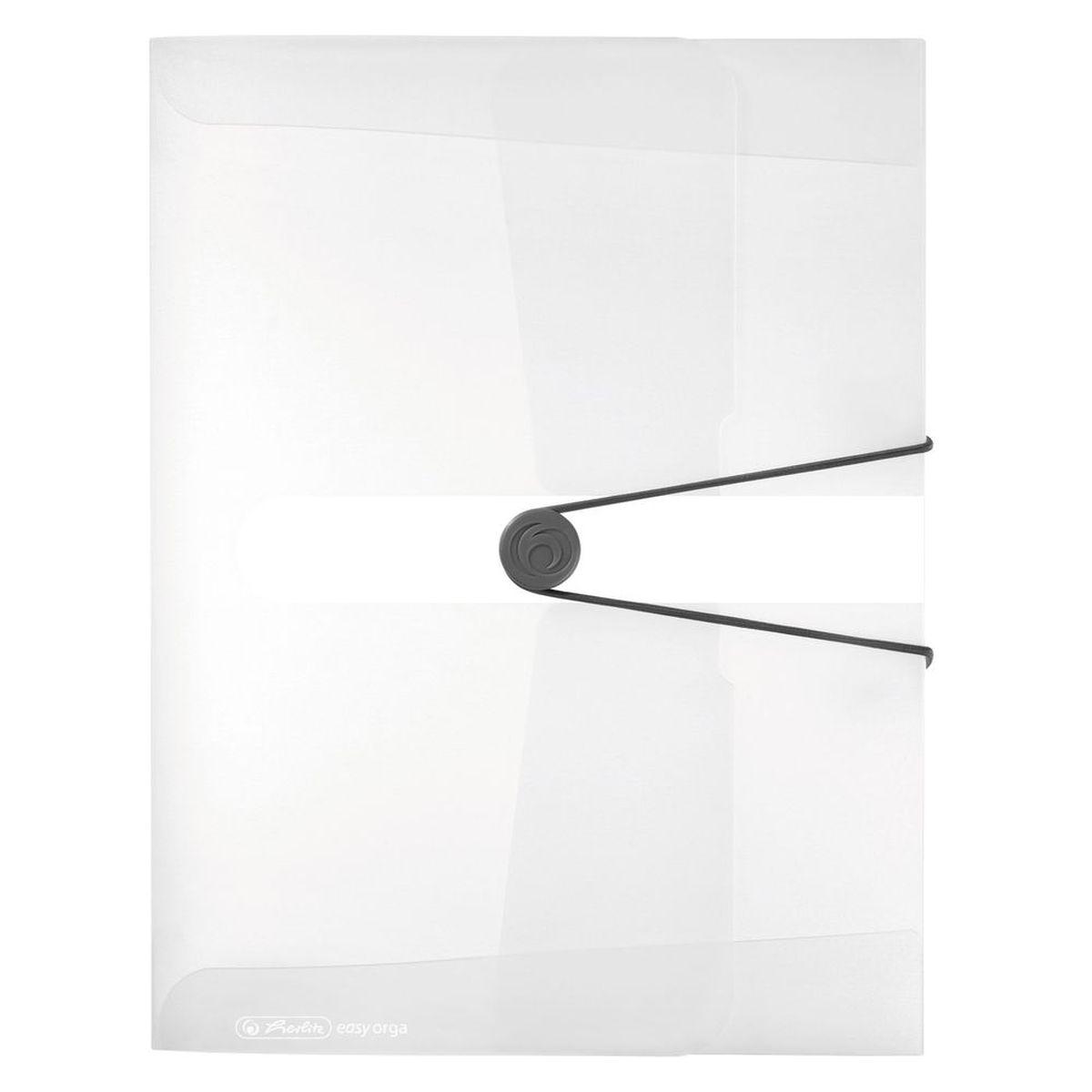 Herlitz Папка-конверт Easy orga to go цвет прозрачныйAC-1121RDПапка-конверт Herlitz Easy orga to go станет вашим верным помощником дома и в офисе.Это удобный и функциональный инструмент, предназначенный для хранения и транспортировки больших объемов рабочих бумаг и документов формата А4. Папка изготовлена из износостойкого пластика и качественного полипропилена. Состоит из одного вместительного отделения. Закрывается папка при помощи резинки, а на корешке папки есть ярлычок.Папка - это незаменимый атрибут для любого студента, школьника или офисного работника. Такая папка надежно сохранит ваши бумаги и сбережет их от повреждений, пыли и влаги.