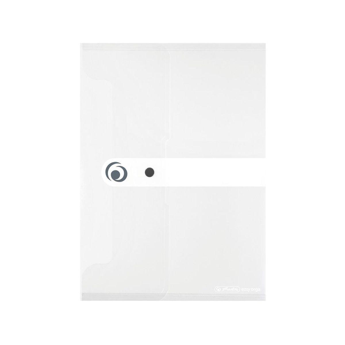 Herlitz Папка-конверт Easy orga формат A5 цвет прозрачныйAC-1121RDПапка для документов с кнопкой. Формат A5. Папки easy orga изготавливаются из качественного полипропилена, полностью безопасного для человека. Цвет прозрачный. Удобно и просто закрывается благодаря кнопке, которая ее надежно фиксирует