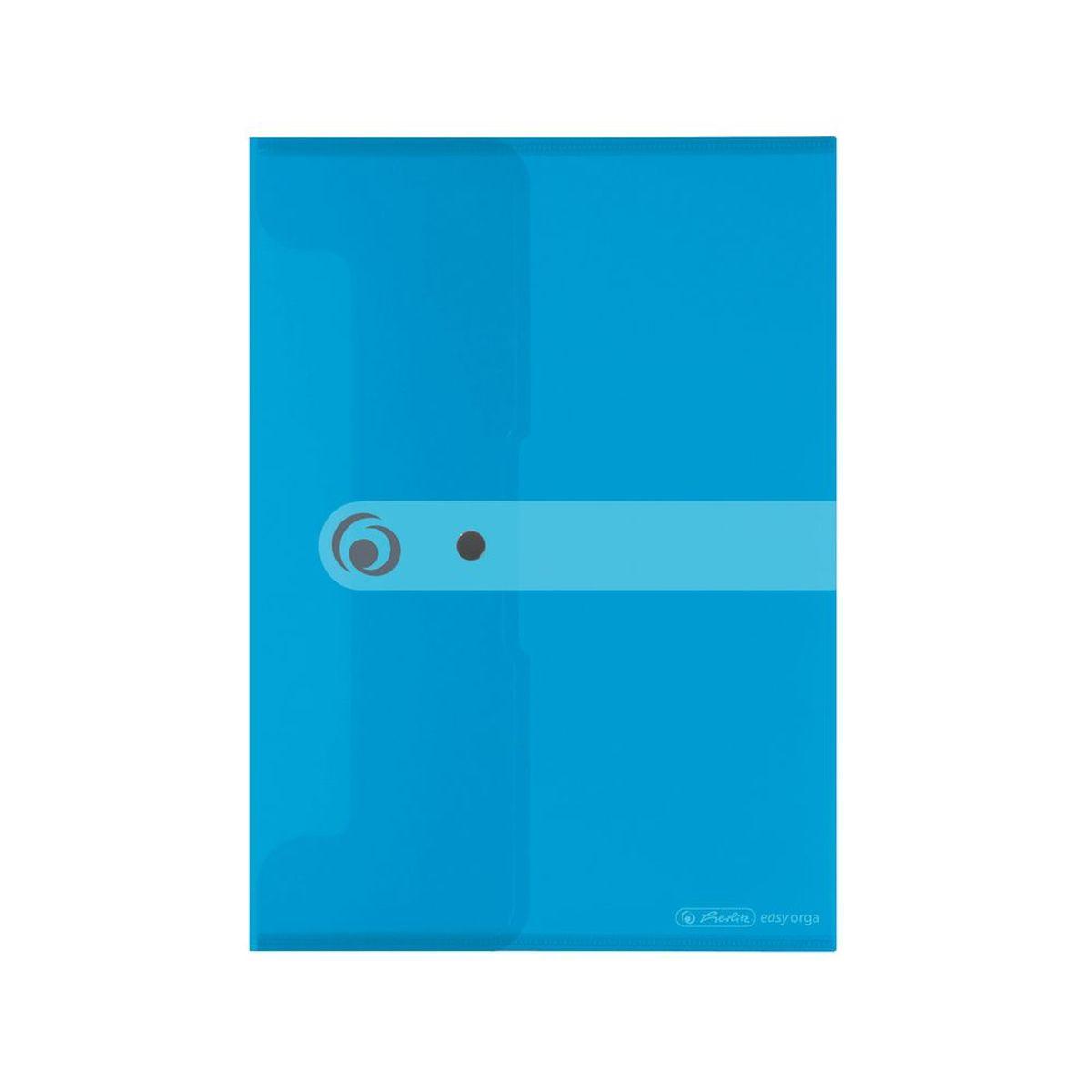 Herlitz Папка-конверт Easy orga формат A5 цвет синий11207065Папка-конверт для документов Herlitz Easy orga станет вашим верным помощником дома и в офисе.Это удобный и функциональный инструмент, предназначенный для хранения и транспортировки больших объемов рабочих бумаг и документов формата А5. Папка изготовлена из качественного полипропилена. Состоит из одного вместительного отделения. Закрывается папка просто и удобно - при помощи кнопки, которая ее надежно фиксирует.Папка - это незаменимый атрибут для любого студента, школьника или офисного работника. Такая папка надежно сохранит ваши бумаги и сбережет их от повреждений, пыли и влаги.