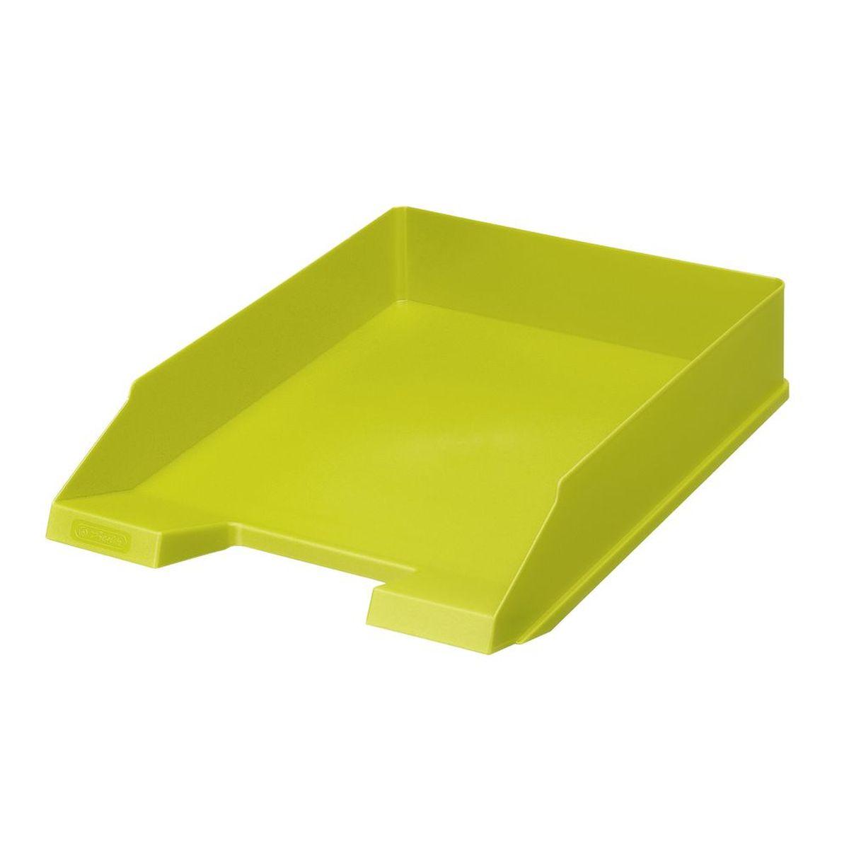 Herlitz Лоток для бумаг Colour Blocking цвет лимонныйFS-00102Практичный лоток для бумаг Herlitz Colour Blocking всегда поможет вам избавиться от лишних документов и содержать порядок на рабочем столе. Лоток изготовлен из пластика и находится всегда в горизонтальном положении, тем самым обеспечивая удобное хранение бумаг и документов. Он значительно облегчает делопроизводство. Яркий дизайн сделает его достойным аксессуаром среди ваших канцелярских принадлежностей и подарит вам хорошее настроение.Формат A4