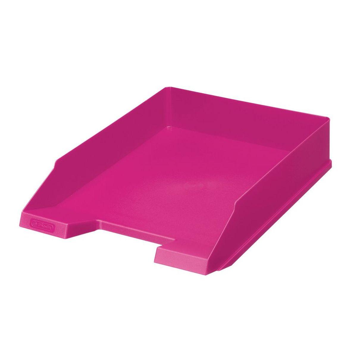 Herlitz Лоток для бумаг Colour Blocking цвет розовыйHA1611/641Практичный лоток для бумаг Herlitz Colour Blocking всегда поможет вам избавиться от лишних документов и содержать порядок на рабочем столе. Лоток изготовлен из пластика и находится всегда в горизонтальном положении, тем самым обеспечивая удобное хранение бумаг и документов. Он значительно облегчает делопроизводство. Яркий дизайн сделает его достойным аксессуаром среди ваших канцелярских принадлежностей и подарит вам хорошее настроение.Формат A4