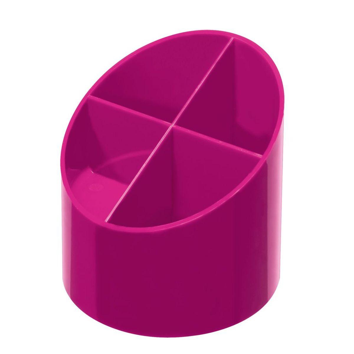 Herlitz Подставка канцелярских принадлежностей 4 секции цвет розовый -  Органайзеры, настольные наборы