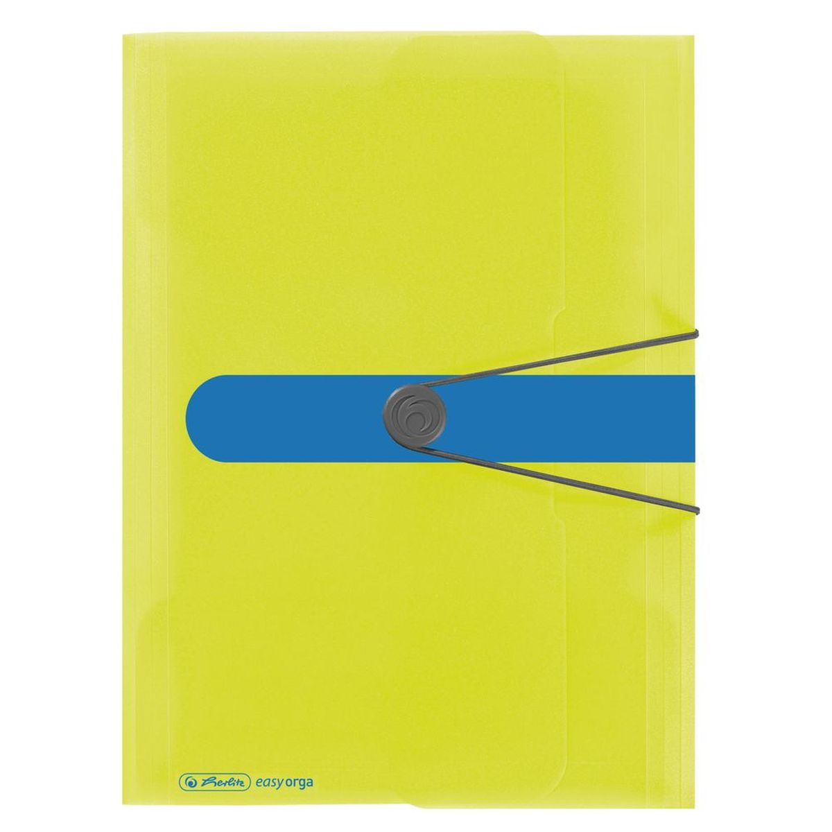 Herlitz Папка Easy Orga цвет лимонный83963_Крош на скейтеПапка на резинке Herlitz Easy Orga с тремя клапанами станет вашим верным помощником дома и в офисе.Это удобный и функциональный инструмент, предназначенный для хранения и транспортировки больших объемов рабочих бумаг и документов формата А4. Папка изготовлена из износостойкого высококачественного пластика. Состоит из одного вместительного отделения. Закрывается папка при помощи резинки.Папка - это незаменимый атрибут для любого студента, школьника или офисного работника. Такая папка надежно сохранит ваши бумаги и сбережет их от повреждений, пыли и влаги.