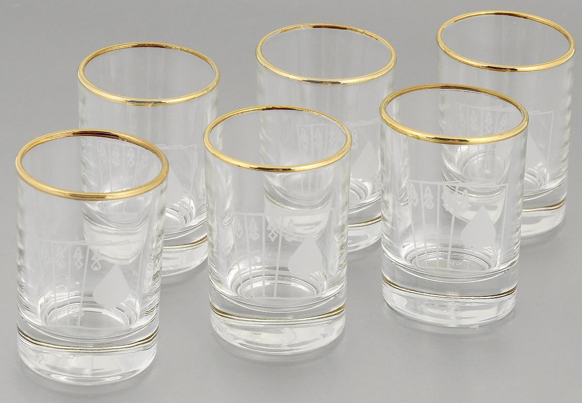 Набор стопок Гусь-Хрустальный Колода, 60 мл, 6 штVT-1520(SR)Набор Гусь-Хрустальный Колода состоит из 6 стопок, изготовленных из высококачественного натрий-кальций-силикатного стекла. Изделия оформлены рельефным рисунком. Такой набор прекрасно дополнит праздничный стол и станет желанным подарком. Можно мыть в посудомоечной машине. Диаметр стопки (по верхнему краю): 4,5 см. Высота стопки: 6,7 см.