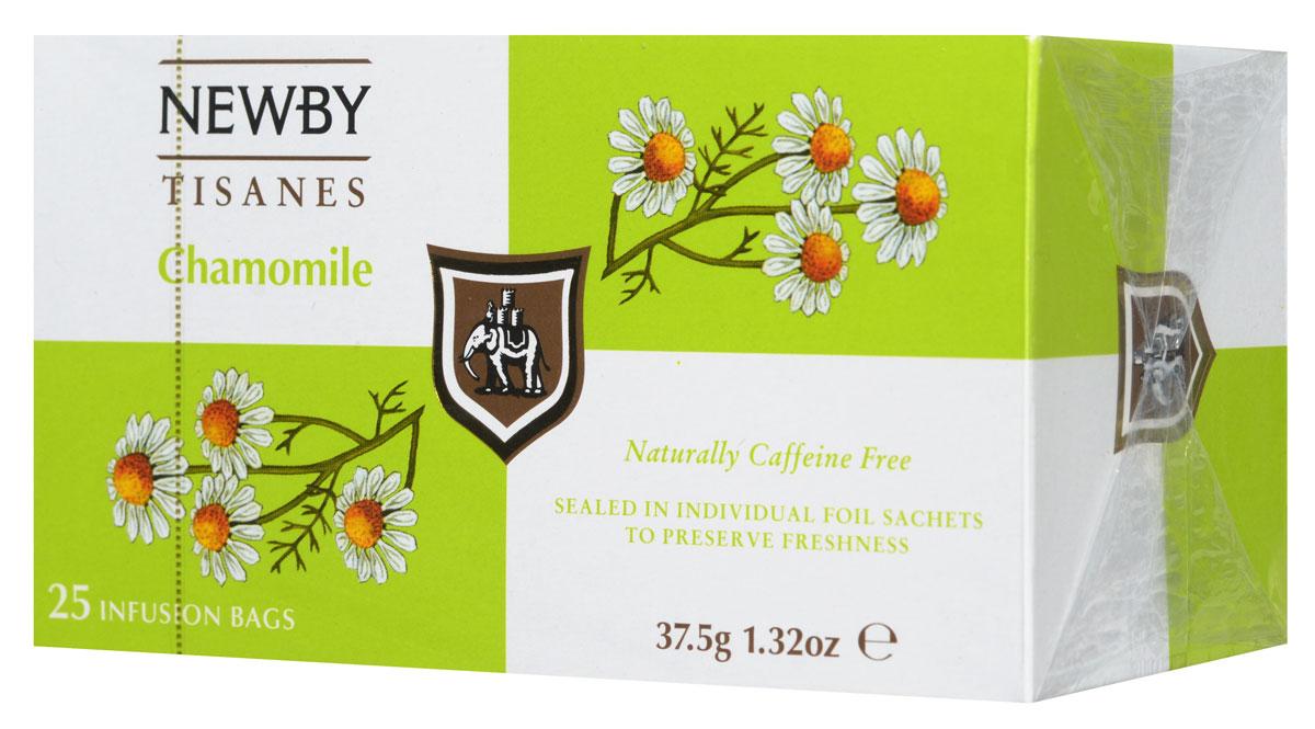 Newby Chamomile травяной чай в пакетиках, 25 шт101246Ромашка, пожалуй, самый известный из всех травяных напитков с древнейшей историей. Эликсир молодости для древних египтян и панацея от всех болезней в 17 веке в Англии, сегодня ромашка ценится во всем мире как успокаивающее средство, улучшающее пищеварение. Травяной чай Newby Chamomile состоит из отборных измельченных цветков ромашки и имеет нежный настой с ароматом луга и сладковатым послевкусием.