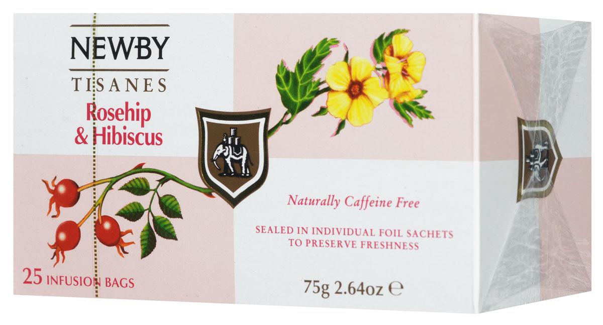 Newby Rosehip & Hibiscus фруктовый чай в пакетиках, 25 штPS106Newby Rosehip & Hibiscus - чай с ярко-красным настоем, освежающей кислинкой и великолепно сбалансированным фруктовым вкусом. Он состоит из смеси цветков гибискуса и сушеных ягод шиповника, который богат витамином С. Прозрачный настой темно-красного цвета обладает острым пикантным бодрящим вкусом.
