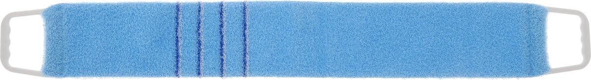 Мочалка-пояс массажная Riffi, жесткая, цвет: голубой, 80 х 11 смМС50_белыйМочалка-пояс Riffi используется для мытья тела, обладает активным пилинговым действием, тонизируя, массируя и эффективно очищая вашу кожу.Примесь жестких синтетических волокон усиливает массажное воздействие на кожу. Для удобства применения пояс снабжен двумя пластиковыми ручками. Благодаря отшелушивающему эффекту мочалки-пояса, кожа освобождается от отмерших клеток, становится гладкой, упругой и свежей.Массаж тела с применением Riffi стимулирует кровообращение, активирует кровоснабжение, способствует обмену веществ, что в свою очередь позволяет себя чувствовать бодрым и отдохнувшим после принятия душа или ванны. Riffi регенерирует кожу, делает ее приятно нежной, мягкой и лучше готовой к принятию косметических средств. Приносит приятное расслабление всему организму. Борется со спазмами и болями в мышцах, предупреждает образование целлюлита и обеспечивает омолаживающий эффект. Моет легко и энергично. Быстро сохнет. Гипоаллергенная.Способ применения: начинайте массаж от ног круговыми движениями по направлению к сердцу, а затем выше.Стирать при температуре до 60°С.Размер мочалки (без учета ручек): 80 х 11 х 1 см.Размер мочалки (с учетом ручек): 94 х 11 х 1 см.
