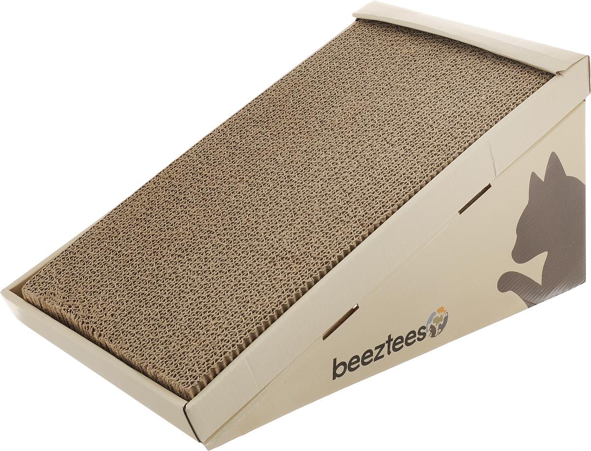 Когтеточка-горка Beeztees I.P.T.S., с кошачьей мятой, 46 х 23 х 25 см0120710Когтеточка-горка Beeztees I.P.T.S. изготовлена из плотного картона - натурального материала, который легко перерабатывается и наносит минимальный ущерб окружающей среде. Когтеточка позволит приучить кошку точить коготки в строго определенном месте, а запах кошачьей мяты привлечет ее внимание. Она будет меньше царапать мебель или вообще перестанет. Вашей кошке очень понравится пользоваться ею и, таким образом, заботиться о своих когтях. Горка поставляется в разобранном виде. Соберите ее согласно инструкции, обсыпьте поверхность кошачьей мятой из пакетика (входит в комплект) и легкими движениями вотрите в поверхность. Когтеточка готова к использованию.