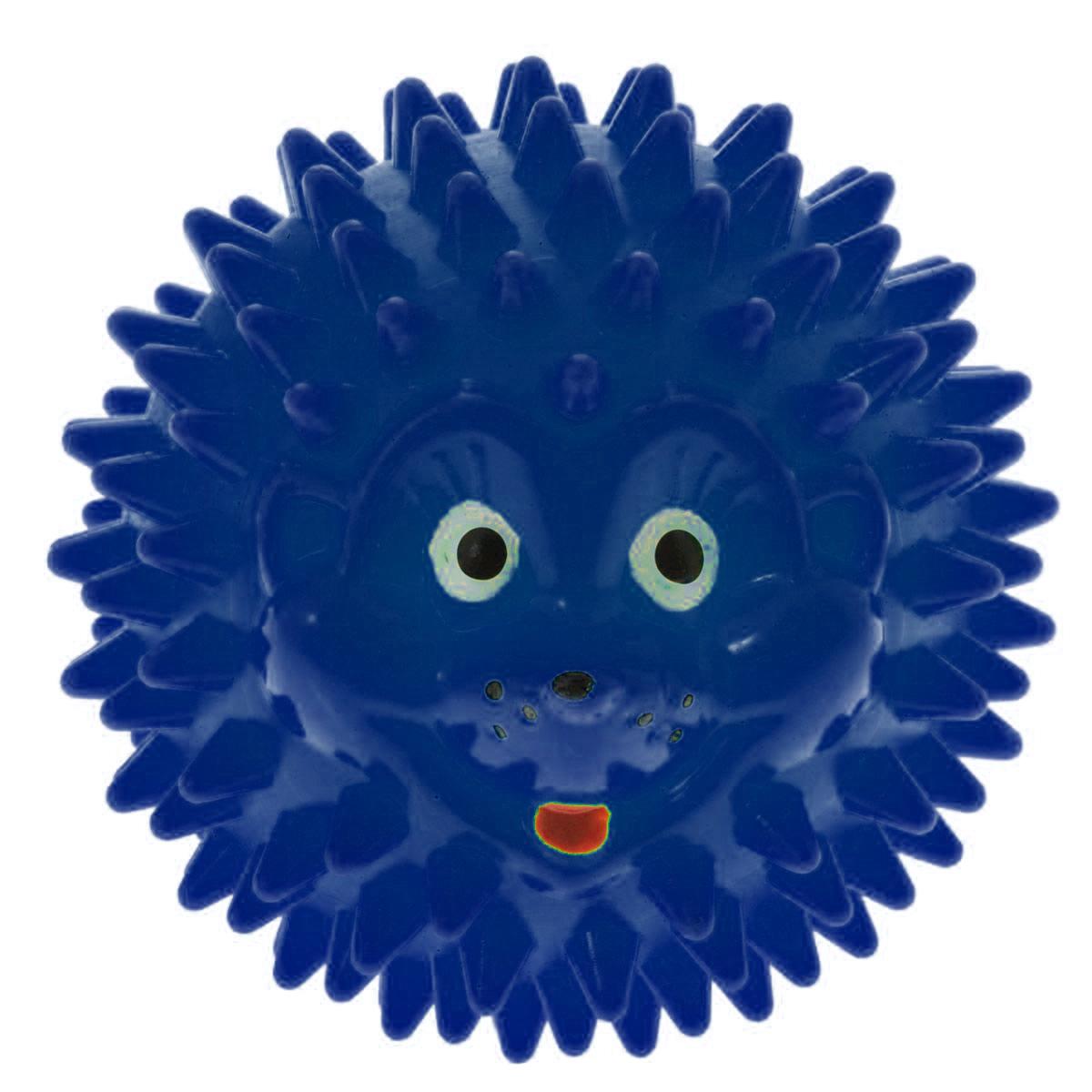 Массажер Дельтатерм Шарик-Ежик, цвет: синий, диаметр 50 ммAS-0826AС помощью массажного мяча Шарик-Ежик можно самостоятельно проводить мягкий массаж ладоней, стоп и всего тела. Такой массаж способствует повышению кожно-мышечного тонуса, уменьшению венозного застоя и ускорению капиллярного кровотока, улучшению функционирования периферической и центральной нервных систем. Идеально подходит для проведения массажа у маленьких детей. Развивает мышление, координацию движений и совершенствует моторику нежных пальчиков малыша и является интересной веселой игрушкой.