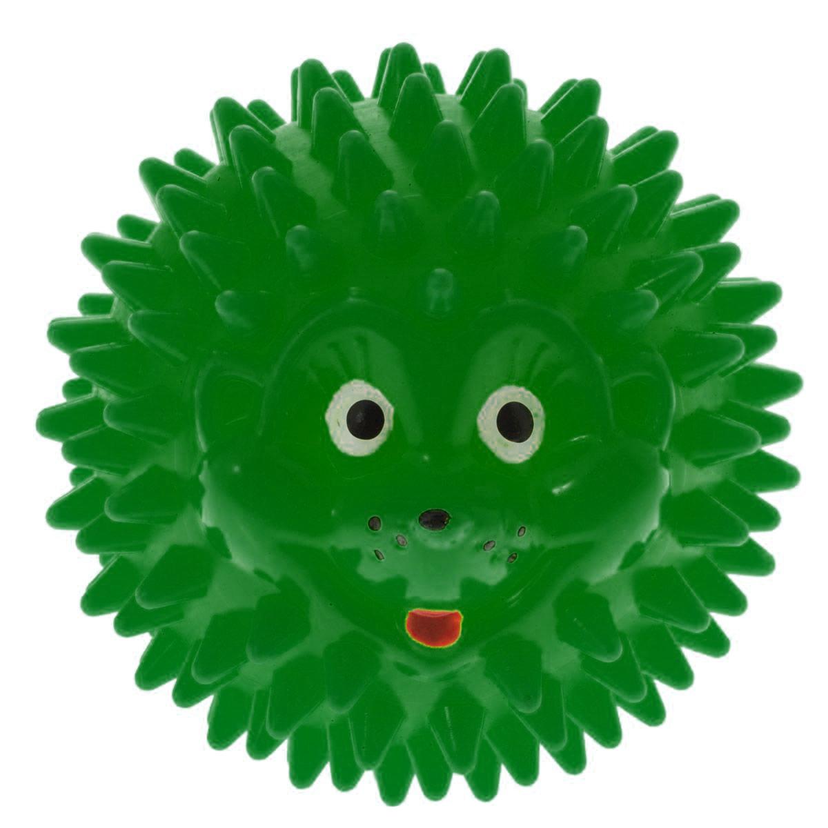 Массажер Дельтатерм Шарик-Ежик, цвет: зеленый, диаметр 50 мм00000833С помощью массажного мяча Шарик-Ежик можно самостоятельно проводить мягкий массаж ладоней, стоп и всего тела. Такой массаж способствует повышению кожно-мышечного тонуса, уменьшению венозного застоя и ускорению капиллярного кровотока, улучшению функционирования периферической и центральной нервных систем. Идеально подходит для проведения массажа у маленьких детей. Развивает мышление, координацию движений и совершенствует моторику нежных пальчиков малыша и является интересной веселой игрушкой.